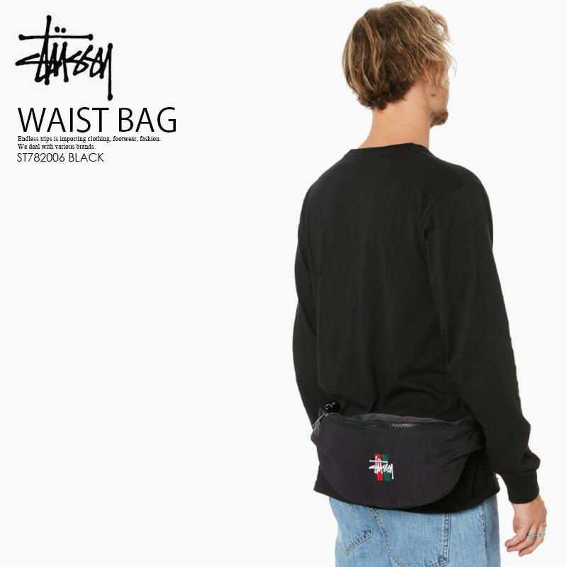 【日本未入荷! 希少! 】 STUSSY (ステューシー)BARS WAIST BAG (バーズ ウエスト バッグ) メンズ レディース ボディバッグ ウエストバッグ BLACK (ブラック) ST782006 BLACK ENDLESS TRIP ENDLESSTRIP エンドレストリップ