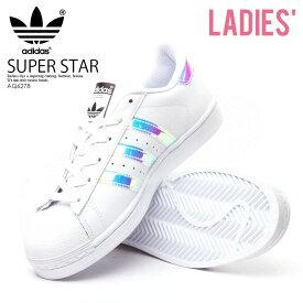 【希少!】【レディースサイズ】 adidas ORIGINALS(アディダス) SUPERSTAR J (スーパースター) レディース シューズ スニーカー FTWWHT/FTWWHT/METSIL(ホワイト/メタリックシルバー) (AQ6278)【外箱ダメージあり】