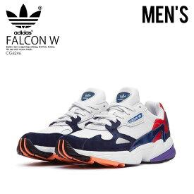 メンズ サイズ  adidas (アディダス) FALCON W (ファルコン) ダッド シューズ スニーカー CRYSTAL  WHITE CRYSTAL WHITE COLLEGIATE NAVY (ホワイト ネイビー) CG6246 ... 30ab83c51