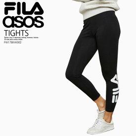 楽天お買い物マラソン!【日本未入荷! 海外限定! ASOS別注 レディース レギンス】 FILA ASOS EXCLUSIVE (フィラ/エイソス) AVRIL LOGO TIGHTS (アヴリル ロゴ タイツ) BLACK (ブラック) FW17BKW002 ENDLESS TRIP