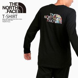 【希少!入手困難!ユニセックス】THE NORTH FACE (ノースフェイス) LONG SLEEVE EASY TEE (ロング スリーブ イージー Tシャツ) メンズ レディース カットソー トップス TNFB/STCKRBMBPT (ブラック) T92TX1YLG エンドレストリップ