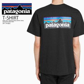 【希少!!大人気! ユニセックス サイズ】 patagonia(パタゴニア)P-6 LOGO RESPONSIBILI TEE (ロゴ レスポンシビリ Tシャツ) メンズ レディース 半袖 半袖T トップス BLACK (ブラック) 39174-BLK エンドレストリップ
