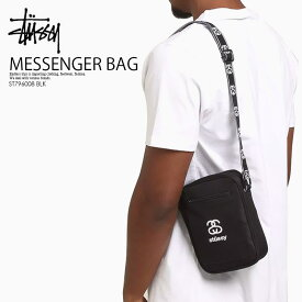 【日本未入荷! 希少! 】 STUSSY (ステューシー)CULT MESSENGER BAG (カルト メッセンジャー バッグ) メンズ レディース ショルダーバッグ フェスティバルバッグ BLACK (ブラック) ST796008 BLK ENDLESS TRIP ENDLESSTRIP エンドレストリップ