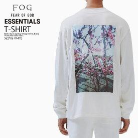 【希少!大人気!】FEAR OF GOD (フィアーオブゴッド) FOG ESSENTIALS PHOTO SERIES LONG SLEEVE T-SHIRT (エッセンシャルズ フォトシリーズ ロングスリーブ Tシャツ) メンズ カットソー ロンT WHITE (ホワイト) 562706 WHITE ENDLESS TRIP ENDLESSTRIP エンドレストリップ