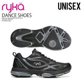 【希少! 大人気! レディース モデル】 RYKA (ライカ) DEVOTION XT (ディヴォーション エックスティ) レディース ダンスシューズ フィットネスシューズ エクササイズシューズ BLK/MT/W (ブラック/グレー) F0180M1001