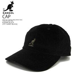 【希少! 入手困難!】KANGOL (カンゴール) CORD BASEBALL CAP (コード ベースボール キャップ) メンズ レディース ユニセックス キャップ(コーデュロイ素材) K5206HT BLACK (197-169007 BLACK) BLACK (ブラック)