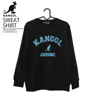 【希少!入手困難!】KANGOL(カンゴール)COLLEGELETTERCREWSWEAT(カレッジレタークルースウェット)トップススウェットスウェットシャツトレーナーメンズレディースユニセックスLCK0034BLACK(ブラック)