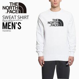 【希少!入手困難!メンズ】THE NORTH FACE (ノースフェイス) DREW PEAK CREWNECK SWEATSHIRT (ドリュー ピーク クルーネック スウェットシャツ) カットソー トップス TNF WHT (ホワイト) T92ZWRFN4 エンドレストリップ