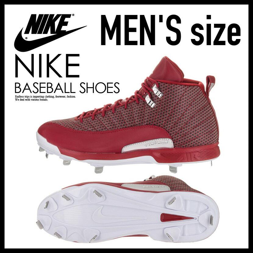 NIKE (Nike) JORDAN XII RETRO METAL (Jordan 12 nostalgic metal) MENS baseball  spikes GYM RED/WHITE-METALLIC SILVER (red / white) 854567 600 ENDLESS TRIP  ...