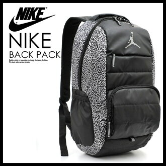 NIKE(耐克)JORDAN ALL WORLD BACKPACK(乔丹全部世界背包)男子的/女士日包帆布背包BLACK/WHITE(黑色/白)9A1640 210 ENDLESS TRIP(永无休止的旅行)
