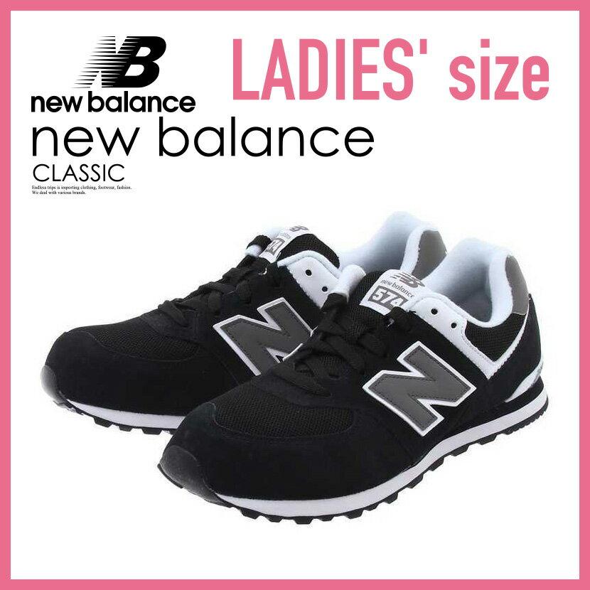 【レディース】NEW BALANCE 574 ニューバランス KL574SKG レディース シューズ スニーカー BLACK/WHITE (ブラック/ホワイト) W574 WL574【正規品】【大人気】