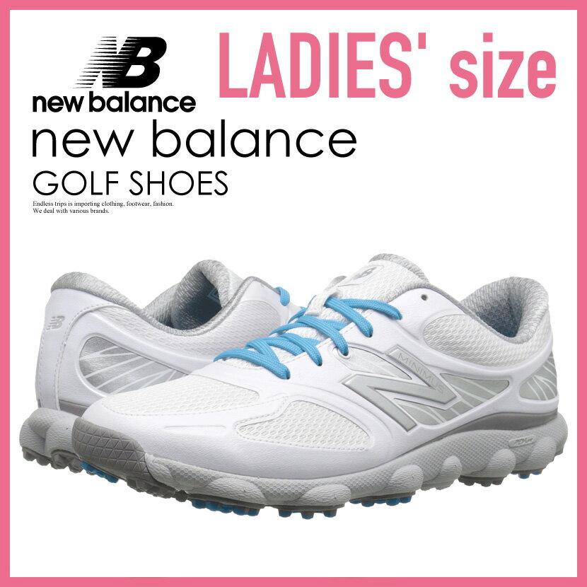 【希少!大人気!レディース ゴルフシューズ】 NEW BALANCE (ニューバランス) NBGW1001 MINIMUS GOLF SHOES (ミニマス ゴルフシューズ) WOMENS GOLF SHOES スパイクレス WHITE (ホワイト) NBGW1001 WHITE ENDLESS TRIP ENDLESSTRIP エンドレストリップ
