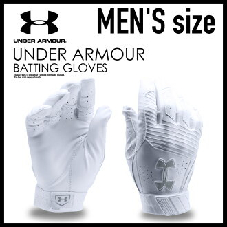 到12月7日1:59! UNDER ARMOUR(andaama)UA CLEAN UP BATTING GLOVES(清潔)棒球手套手套一對雙手WH/WH(白)1299530-100
