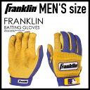 FRANKLIN(富蘭克林)NEO CLASSIC II BATTING GLOVES(新古典)棒球手套手套一對雙手PURPLE/GOLD(紫/黄金)209791 ENDLESS TRIP(永無休止的旅行)