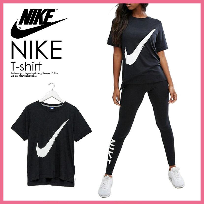 【希少!大人気!レディース サイズ】 NIKE (ナイキ) WOMENS SWOOSH T-SHIRT スウッシュ Tシャツ レディース ウィメンズ BLACK/WHITE (ブラック/ホワイト) 924118 011 ENDLESS TRIP(エンドレス トリップ)