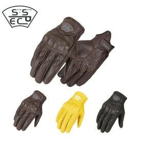 バイクグローブ レーシンググローブ ツーリング 防風 防水 本革手袋 スマホ操作 タッチパネル対応 3色