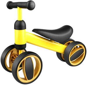 ペダルなし自転車 子供用 乗用玩具 キッズバイク 子ども用自転車 キックバイク バランスバイク ランニングバイク 前後4輪 倒れにくく 子供用乗り物 幼児用 1歳から3歳まで対象 男の子 女の