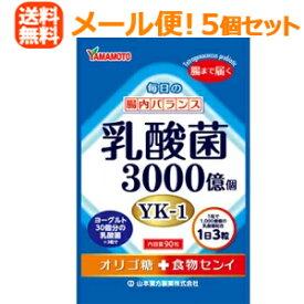 【メール便送料無料!5個セット!】【山本漢方】乳酸菌粒90粒