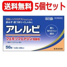【第2類医薬品】【送料無料・5個セット!】アレルビ 56錠×5個セット【皇漢堂製薬】