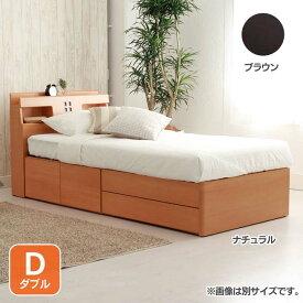 宮付きチェストヘッドD AQUDDRHIBR送料無料 ベッド ダブル 寝室 ベッドルーム 寝具 ホワイト【TD】 【代引不可】【取り寄せ品】
