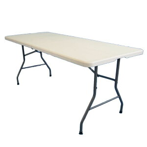 PE折りたたみテーブル180cm 折りたたみテーブル テーブル 折りたたみ 作業 ガーデン 庭 作業台 ワークテーブル 【TD】 【代引不可】