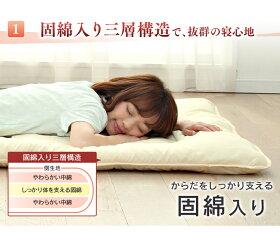 敷き布団寝具シングル軽量固わた入り敷きふとん