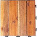 【10枚セット】天然アカシアウッドデッキ ウッドパネル ウッドタイル パネル 木 ウッディ 天然木 ジョイント ストレー…