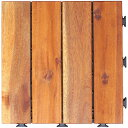 【30枚セット】天然アカシアウッドデッキ ウッドパネル ウッドタイル パネル 木 ウッディ 天然木 ジョイント ストレー…