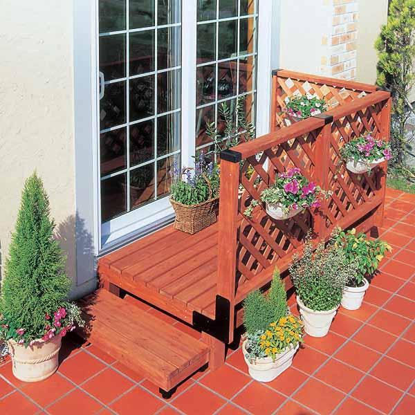 【送料無料】ガーデンシステムデッキ0.5坪セット GSD-0.5ST ブラウン アイリスオーヤマ