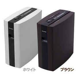 【送料無料】アイリスオーヤマ 細密シュレッダー PS5HMSD ホワイト・ブラウン 2×10mm マイクロカット シュレッダー 家庭用 電動シュレッダー 電動 CD/DVD等メディアカット