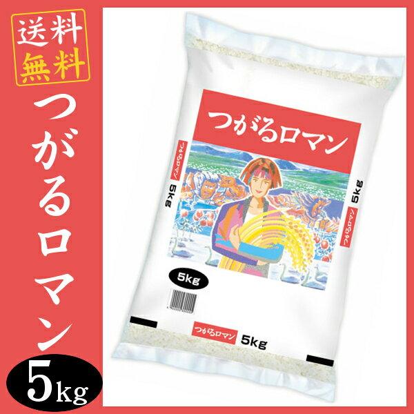 つがるロマン 5kg 送料無料 青森県産 つがるろまん 津軽ロマン 5キロ 白米 お米 ご飯 【29年産】【TD】【米TKR】【メーカー直送品】