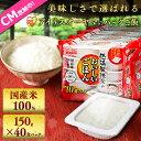 【ご飯パック】低温製法米のおいしいごはん 150g×40食パック送料無料 レトルトご飯 メガ盛り パックごはん パックご…