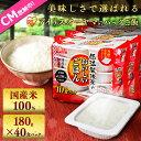 低温製法米のおいしいごはん 180g×40食パック送料無料 レトルトご飯 メガ盛り パックごはん パックご飯 レンジごはん…