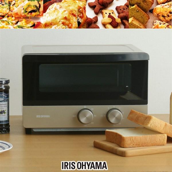 トースター オーブントースター アイリスオーヤマ POT-412FM-Nトースター 4枚 遠赤外線ヒーター 食パン4枚 4枚焼き トレー 両面焼き 上下ヒーター ピザ オーブン トースト パン クッキー 調理家電 シャンパンゴールド アイリス おしゃれ