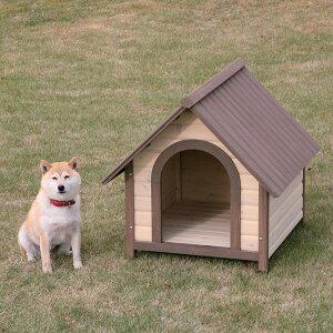 《犬小屋》 ウッディ犬舎 WDK-750 [犬小屋 中型犬用 屋外用 木製 ] おしゃれ アイリスオーヤマ