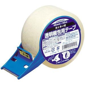 【260465】透明梱包テープ B171J カッター付【J】梱包おしゃれ