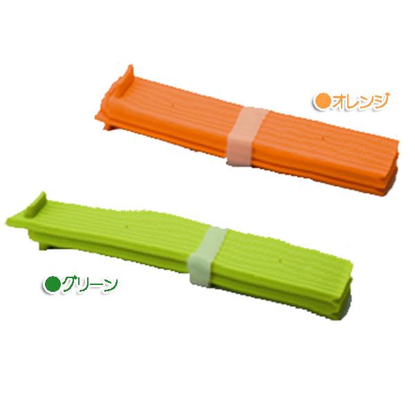 ★【送料無料】折りたたみシリコン水きりプレートオレンジ・グリーンアーネスト おしゃれ