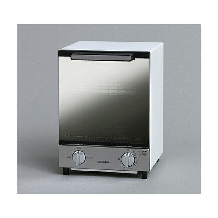 【あす楽】オーブントースター MOT-012縦型 オーブン トースター ミラー ミラーガラス タイマー 縦 一人暮らし ひとり暮らし トースト 省スペース シック 2段 二段 2枚焼き ホワイト コンパクト インテリア 冷凍ピザ ミラー調 アイリスオーヤマ