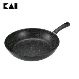 【フライパン IH対応】【B】軽量・高熱効率フライパンIH対応(32cm)【炒め鍋】貝印 000DW5632 おしゃれ