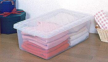 収納ケース 衣装ケース CF-730収納ボックス 衣類収納 衣装ケース 幅45 奥行73 高さ24 押入れ収納 クローゼット 衣替え 小物収納 たんす タンス 1段 大容量 フタ 蓋付き ふた 積み重ね クリアケース プラスチック おしゃれ シンプル アイリスオーヤマ