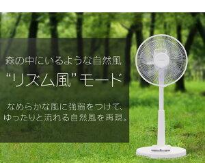 扇風機リビングファン首振り静音リモコン付きタイマー省エネ節電DCモーター季節家電リモコン式リビング扇DCモーター式ロータイプLFD-305Lアイリスオーヤマ