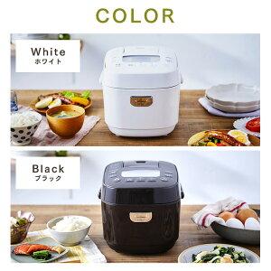ジャー炊飯器3合RC-ME30ホワイトブラック送料無料銘柄炊きジャー炊飯器3合ご飯ごはんおかゆ白米無洗米雑穀米おこわ玄米麦飯アイリスオーヤマ