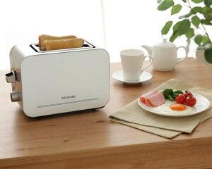 ポップアップトースターIPT-850-Wトースターパン焼きおしゃれシンプル一人暮らしトースト食パン4枚切り対応2枚同時一人用コンパクトミニ冷凍パンあたためランキング1位アイリスオーヤマ