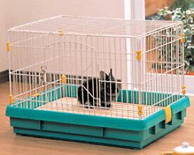 ラビットケージ UK-650 パステルグリーン送料無料 ペット用品 ペットと暮らす 飼育 生活用品送料無料 おしゃれ アイリスオーヤマ