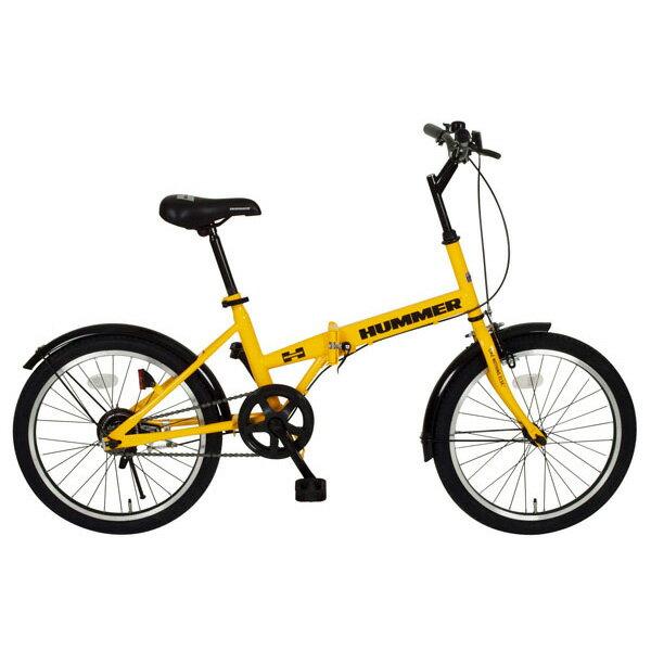 【送料無料】【折りたたみ自転車】HUMMER FDB20R【20インチ】ミムゴ MG-HM20R・イエロー【TD】 おしゃれ