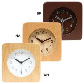 アラームクロック スクエア 32705送料無料 時計 とけい 目覚まし めざまし 時計目覚まし 時計めざまし とけい目覚まし 目覚まし時計 めざまし時計 目覚ましとけい 不二貿易 BR・NA・WH