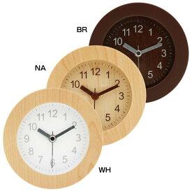 アラームクロック ラウンド ウッド 32708送料無料 時計 とけい 目覚まし めざまし 時計目覚まし 時計めざまし とけい目覚まし 目覚まし時計 めざまし時計 目覚ましとけい 不二貿易 BR・NA・WH