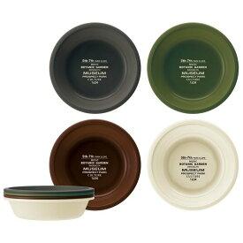 ボウル4Pセット ブルックリン ブラック・グリーン・ブラウン・ベージュ P6P中鉢 食器 4枚組 ピクニック 【D】