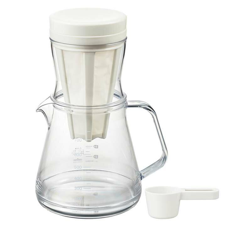 コーヒーサーバー ストロン 2WAY ドリッパーセット ホワイト 39940送料無料 コーヒーサーバー アイスコーヒー 水出しアイスコーヒー 水出し おしゃれ 紙フィルター不要 フィルター付き コーヒードリッパー コーヒーサーバー 曙産業 【D】