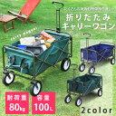キャリーワゴン 折畳ワゴン キャリーカート送料無料 アウトドア キャンプ レジャー 砂浜 BBQ バーベキュー 耐荷重80kg…